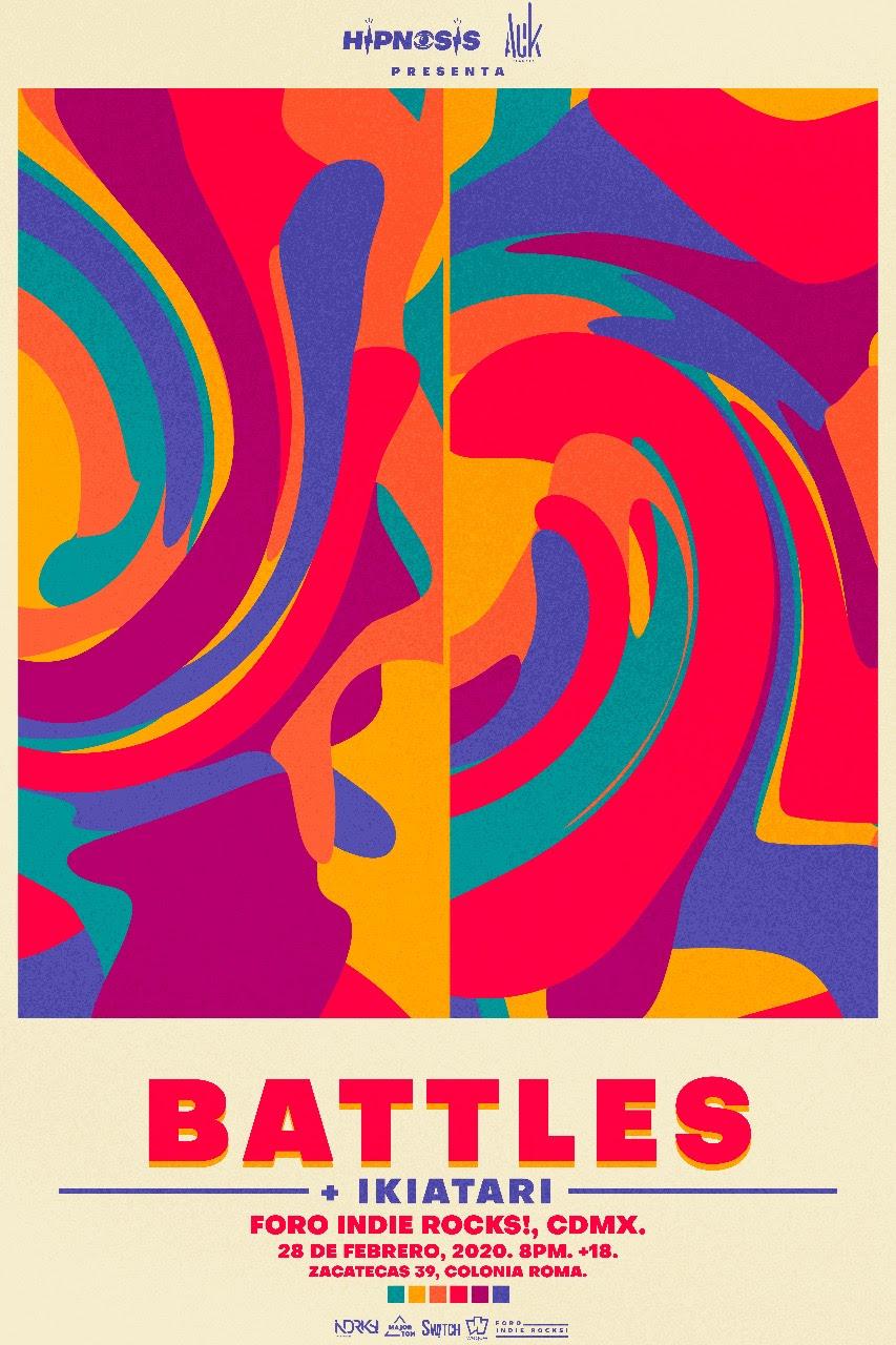 Battles anuncia concierto en Foro Indie Rocks!