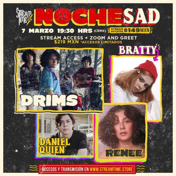 noche-sad-concierto-virtual-bratty-drims-renee-daniel-quien 1