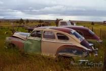 colorful cars at Shaniko, Oregon...