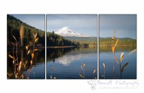 Looking over Trillium Lake to Mt Hood