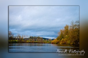 Near Newberg, Oregon boating northward on a cloudy Sunday morning