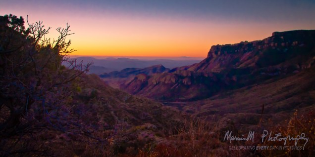 Big Bend National Park; Southward on Lost Mine Trail at sunrise