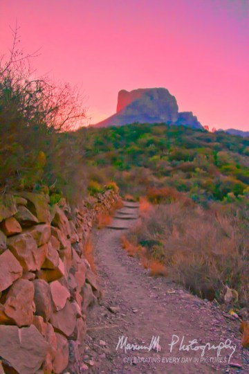 Big Bend National Park; Casa Grande at sunset
