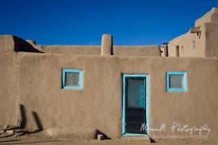 Taos Pueblo; A walled-in Native American community near Taos, NM