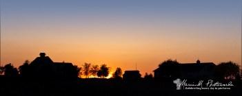 farm scene sunset champagne illinois
