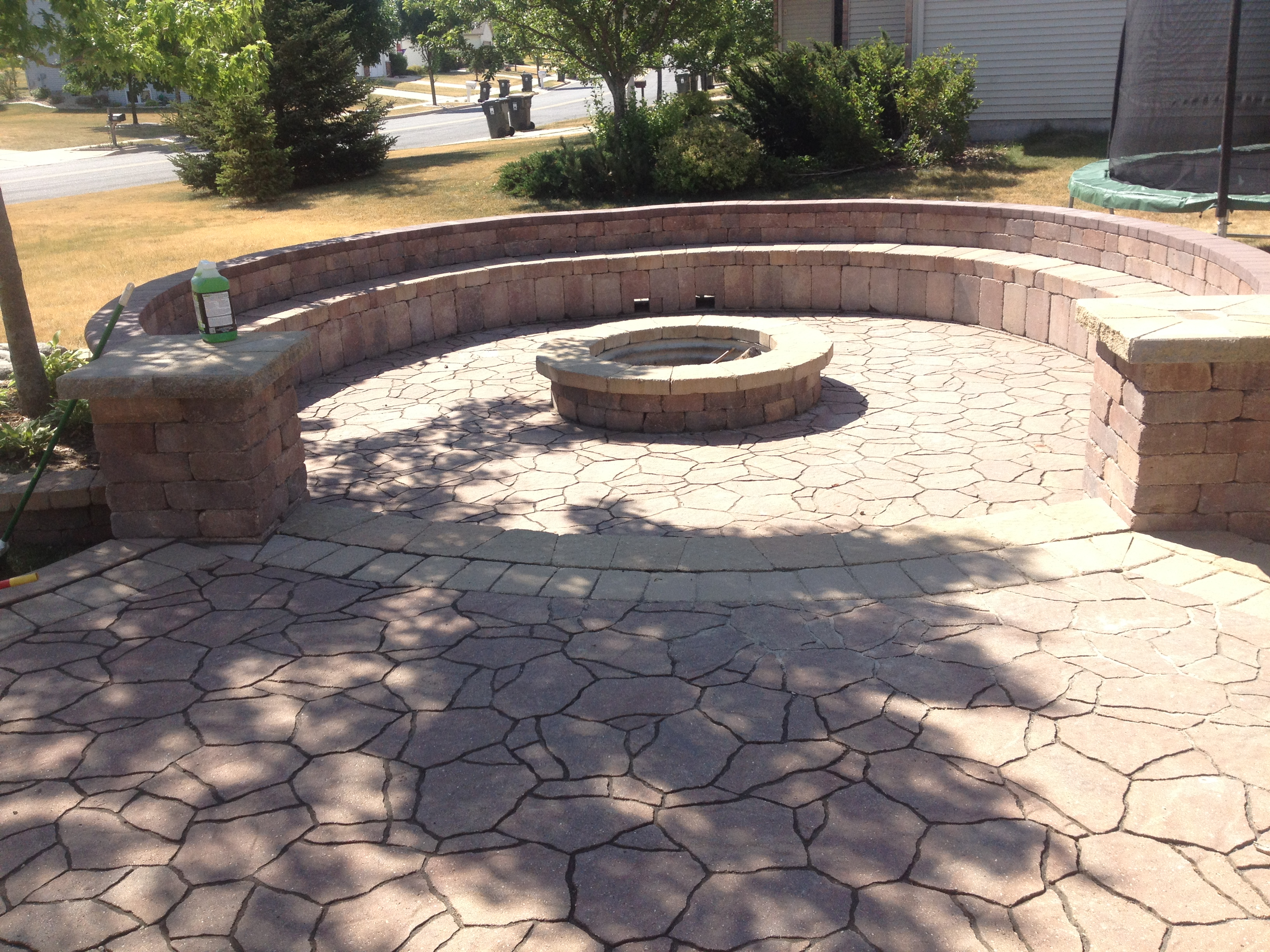 Patio Pavers - Marvin's Brick Pavers on Pavers Patio With Fire Pit id=88835