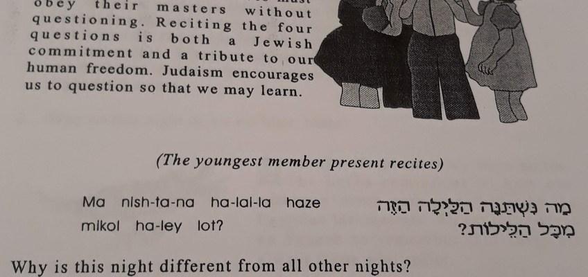 年少者が聞く4つの質問が書かれたページ。