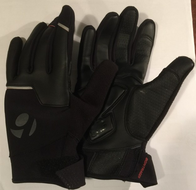 Bontrager Velocis gloves, the silicon grip is clearly evident on the fingers and thumb.