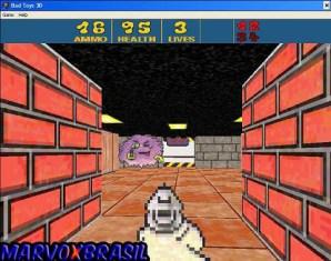 Logo perto da saída do Stage 1 aparece um outro inimigo. Este usa o mesmo revólver que você. Os inimigos são rápidos então tem que atirar assim que bater o olho.
