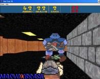 Finalmente o mestre dos brinquedos é este robô azul. O único chefão do jogo inteiro e finalmente encontrado no Stage 25. Matá-lo é bem difícil, porque além de me preocupar em matá-lo, aparecem todos os tipos de inimigos do jogo, e vai aparecendo aos poucos.
