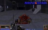 O modo como os inimigos caem no chão derrotados é muito grotesco.