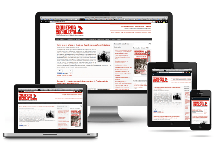 La Izquierda Socialista   Responsive Web Design