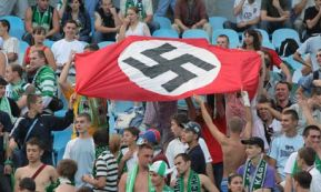 Nazi flag at match