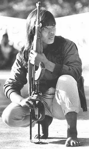 A woman of the CPP's New People's Army