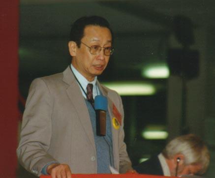 Jose Maria Sison presiding over the International Seminar on Mao Zedong Thought, 1993