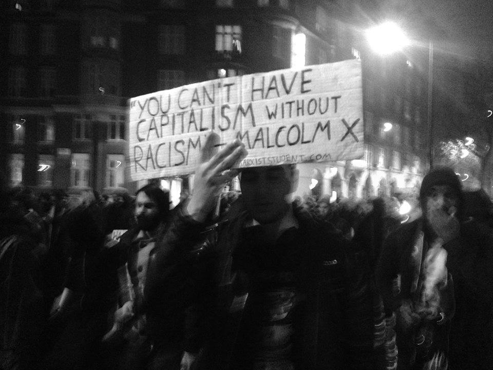 Marxist students from LSE and Goldsmith's at the Mike Brown solidarity vigil/demo