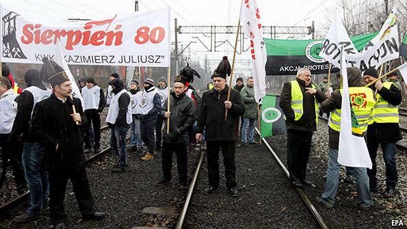 Solidarność z Polskimi Górnikami
