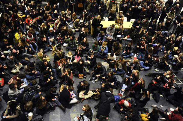University of Amsterdam students fight privatisation