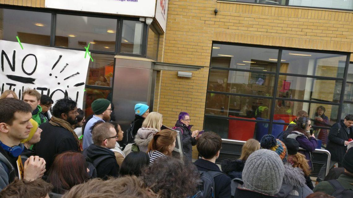 UCU strikers demonstrate in central London