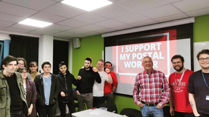 Swansea Marxists & Labour Students support the postal workers!