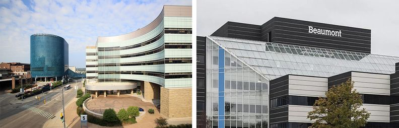 Spectrum Health, left, and right, Beaumont image