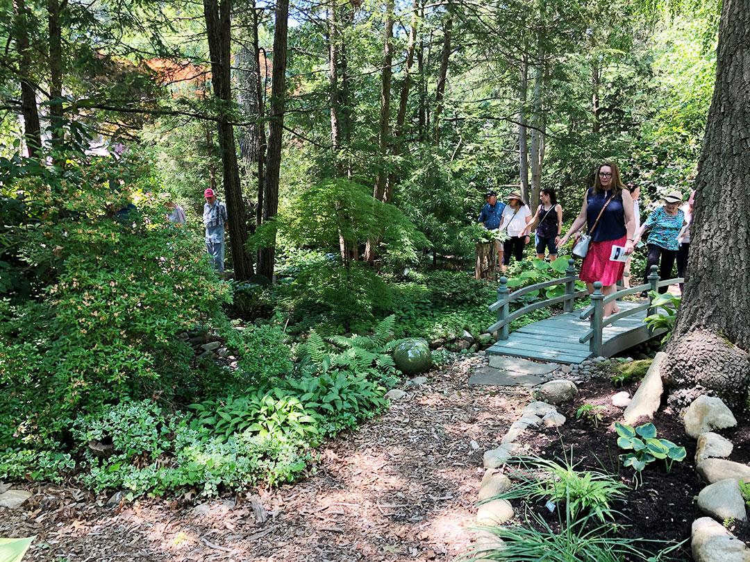June 6, 2021 Garden Tour-Crossing the Garden Bridge