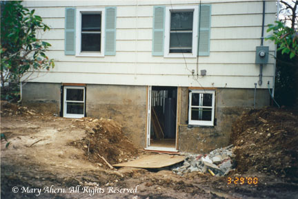 Within days we had a brand new back entrance to our home