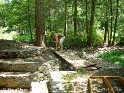 "My son Michael helped to dismantle the nine year old ""temporary"" bridge"