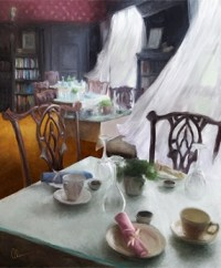 Bayard Breezes. Original Art by Mary Ahern.Still Life and Interiors