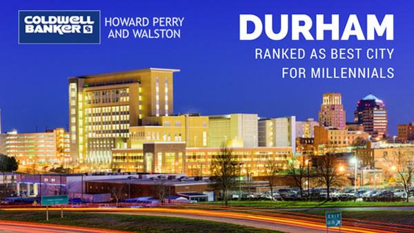 Durham-Best City for Millennials