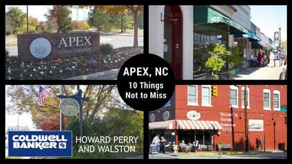 Taking a Peak at Apex, NC