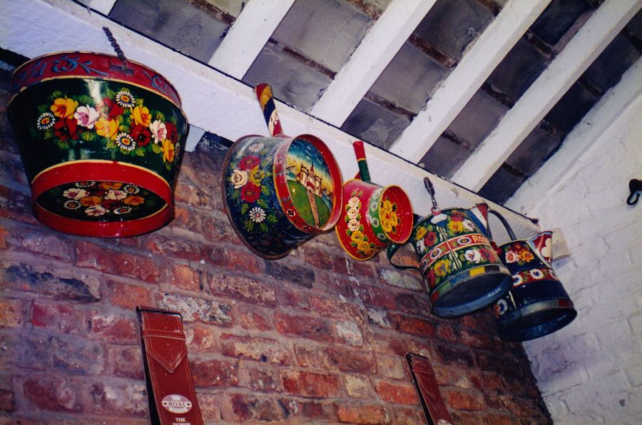 canal boat artwork cookware, canal boat, folk art, British folk art, Is It Art?, Maryann Adair,