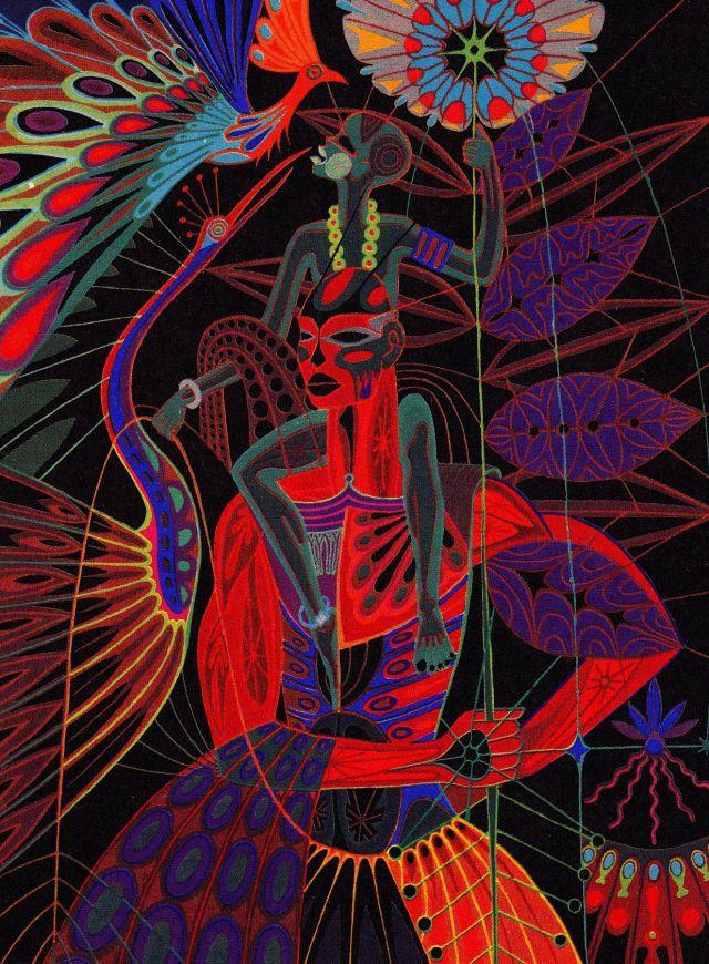 UNCF-card-Wonders of the bush-Senegal artist Papa Ibra Tall