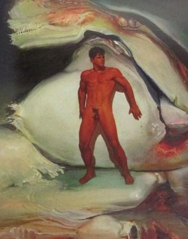 James Gleeson - figure in a psychoscape, Australian artists, is it art?