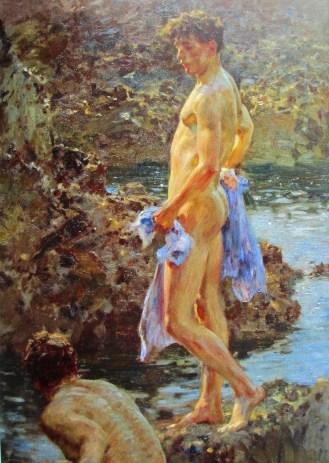Henry Tuke - a bathing group