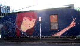 Ghostpatrol house wall street art, street artists, Melbourne, is it art?