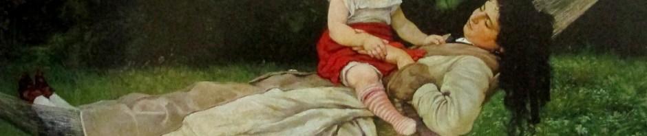 Hans Thoma - In the Hammock (1876), art, is it art?