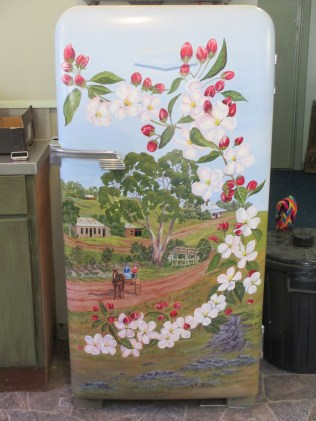Shirley Stewart | ANA Hall Harcourt, decorated fridge,, fridge art, decorative art, fridges, Harcourt,