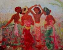 Adrien-Jean le Mayeur de Merpes - Balinese Girls in the Garden