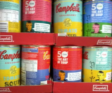 Campbell's Soup Cans 50 Year Centenary Celebration of Andy Warhol's Soup Can Art