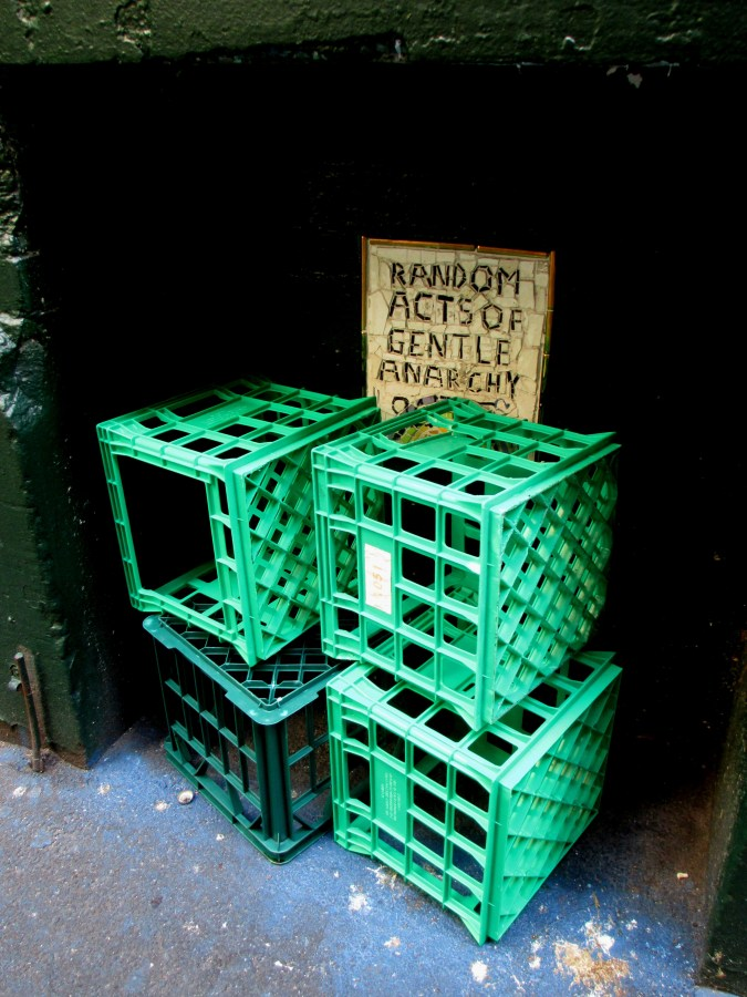 Milk crates - Random Acts of Gentle Anarchy