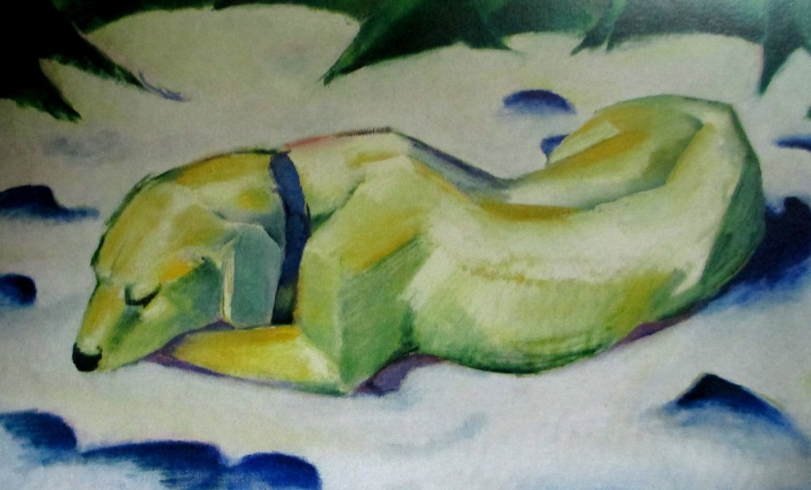 Franz Marc | Dog Lying in the Snow (1911)