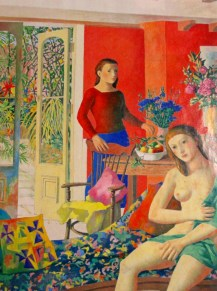 Justin O'Brien | Interior with standing nude and seated figure