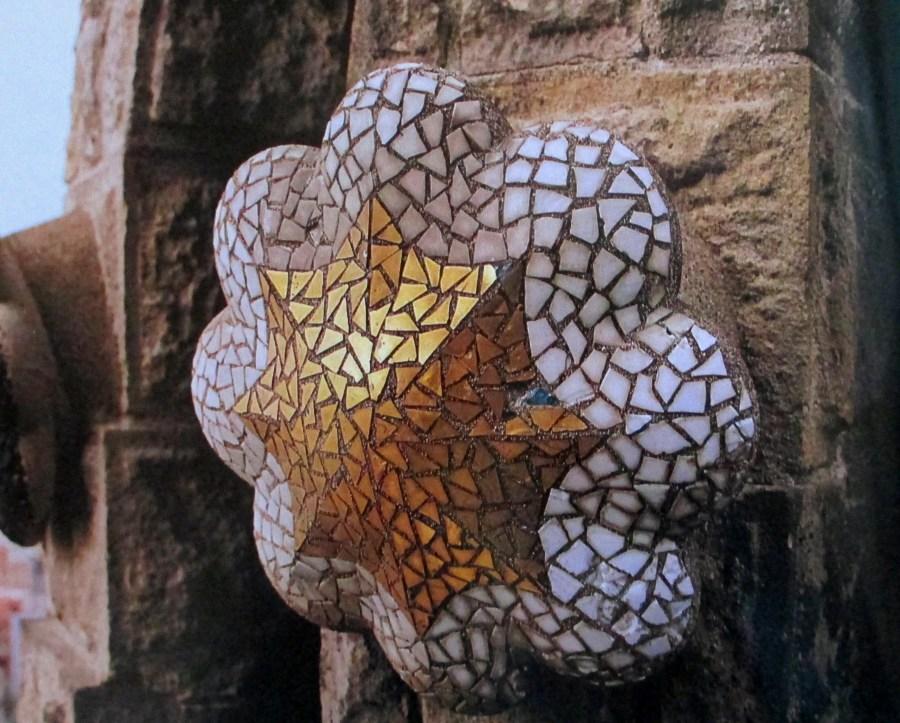 Gaudi   La Sagrada Familia (Detail of boss from mosaic