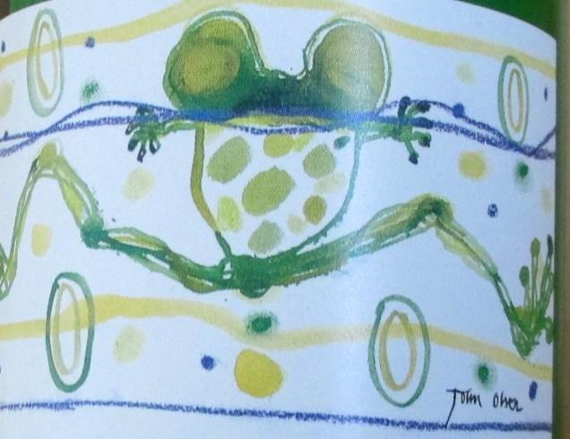 John Olsen - Wine Series frog