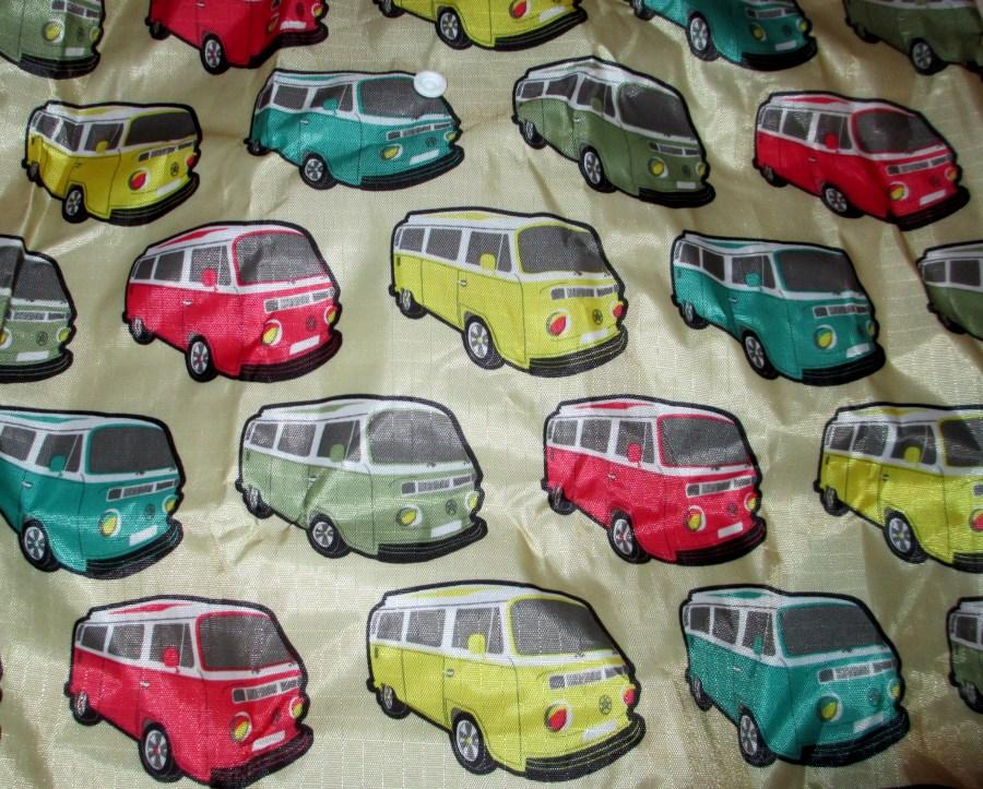 Combi design fabric for a carry bag