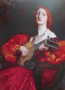Edwin Austen Abbey | A Lute Player (1899)