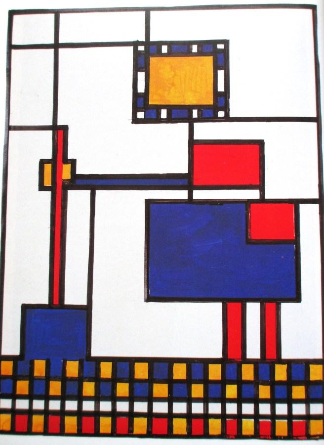 Sally Swain after Piet Mondrian | Mrs Mondrian Mops the Floor