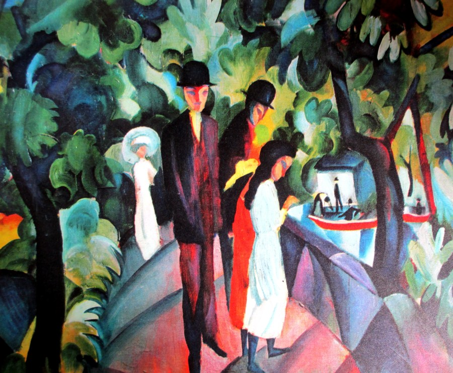 August Macke | Walkers on the Bridge