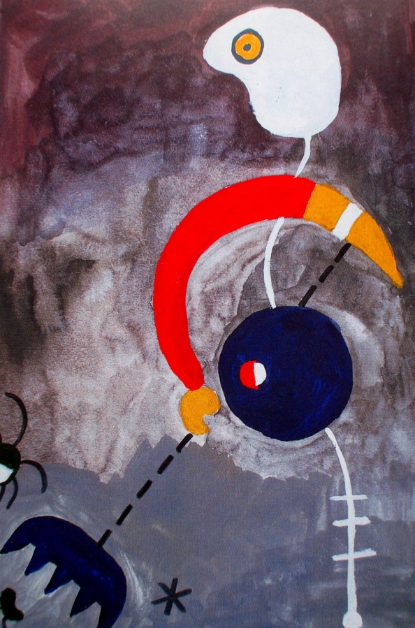 Sally Swain after Joan Miro | Mrs Miro Sweeps the Floor
